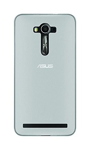 Phonix Cover 'Gel Protection Plus' mit Bildschirmschutzfolie, transparentes für Asus Zenfone 2 Laser (5 Zoll) weiß