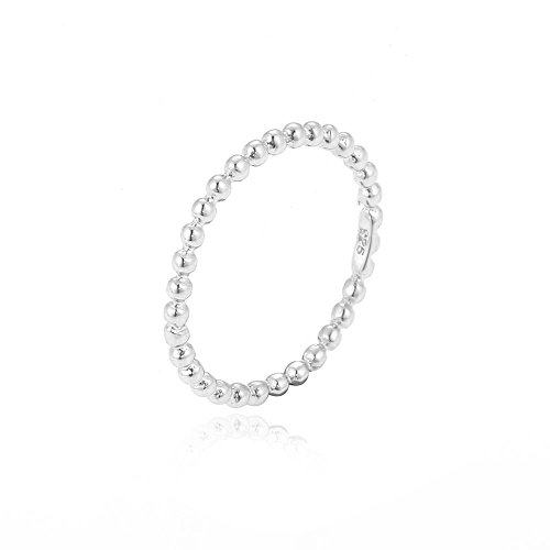 Ring Kugeln Silber 925 Metallfarbe Silber, RingSize 48 (15.3)