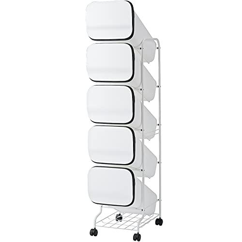 リス ゴミ箱 smooth スタンドダストボックス5P  スリム 20L×5 ホワイト