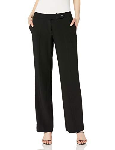 Calvin Klein Women Classic Fit Straight Leg Suit Pant, Black, 10