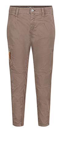 MAC Jeans Damen Rich Cargo Cotton Hose, 684R Nutria PPT, 38/28