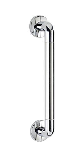 WENKO Barra de seguridad Secura 43 cm, cromo, Aluminio, 43 x 7 x 8 cm, Cromo