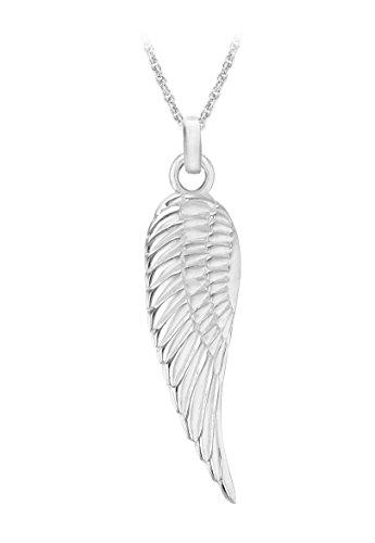Tuscany Silver Weizenkette Mit Anhänger Sterling Silber Einfach Engel Flügel 46cm/18zoll