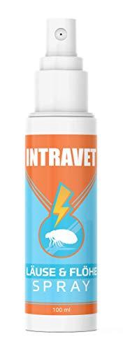 Saint Nutrition Intravet by Anti Läuse & Flöhe Spray - das Abwehr Spray auf Natürliche Weise für Haustiere, Milben + Flohmittel für Katze und Hund für Innen - DIE natürliche Abwehr, 100ml