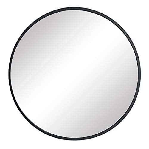"FANYUSHOW Large Simple Round Metal Frame Mirror, 24"" Wall-Mounted Mirror for Bedroom, -"
