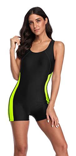 Charmo Badeanzug Damen Sport Bademode Schwimmanzug Badeanzug mit Bein Badebekleidung Frauen