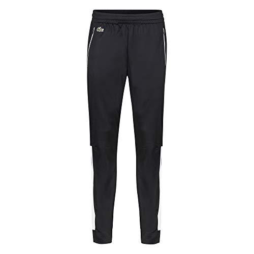 Lacoste Herren XH4833 Jogginghose, Männer Jogger,Trainingshose,Sporthose, Regular Fit,Black/White-Cosmic(Y4W),X-Large (6)