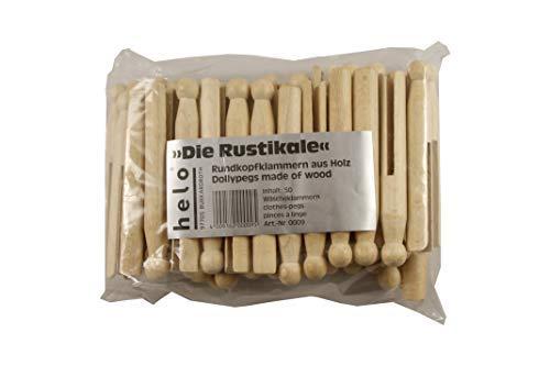 100 Wäscheklammern Wäscheklammer Sturmklammern Rundkopfklammern Nostalgie Holz Rundkopf-Wäscheklammern