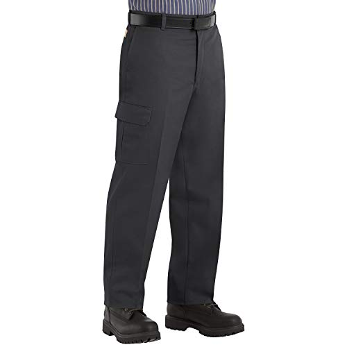 Red Kap Men's Industrial Cargo Pant, Black, 30W x 30L