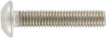 Zaunbauschrauben ähnlich ISO 7380 mit Vollgewinde, Art. 9020 A2 M 8X40 SW 5,5 mm, Paket â 100 Stück