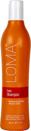 Loma Hair Care Daily Shampoo, Orange/Tangerine, 12 Fl Oz