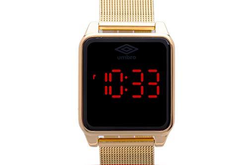Relógio Umbro, Unissex, Fashion, Digital, Dourado