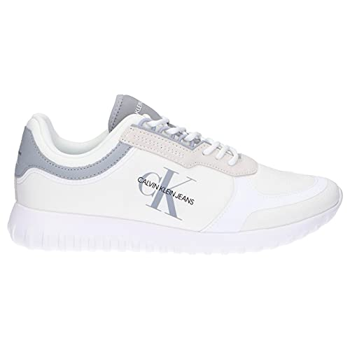 Calvin Klein Jeans Runner Lace Up Sneakers Eva Mens White Trainers-UK 9 / EU 43
