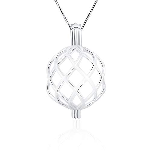 LGSY Twisted Ball Cage Pendants for Pearl Jewelry Making Sterling Silver, Design Pearl Cage Pendants for Adorable Gift