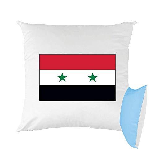 Mygoodprice Kissen, Bedruckt, 40 x 40 cm, Flagge Syrien Himbeere