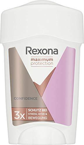 REXONA Maximum Protection Anti-Transpirant Cremestick Confidence Deo mit 48-Stunden-Schutz für langanhaltende Frische 45 ml 1 Stück