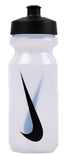 Nike Erwachsene Big Mouth Water Bottle Trinkflasche, mehrfarbig (Clear/Black), 650 ml