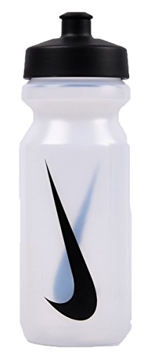 Nike Erwachsene Big Mouth Water Bottle Trinkflasche, mehrfarbig (Clear/Black), 650 ml