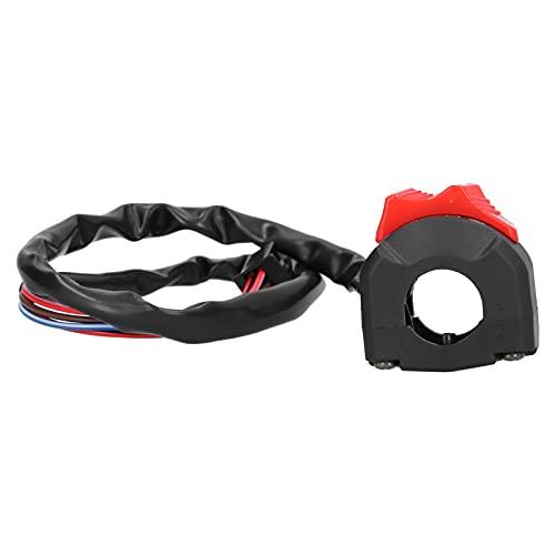 Interruptor de manillar Akozon, interruptor universal de manillar de motocicleta de 7/8 pulgadas, controlador de botón de arranque y parada de motocicleta impermeable para reemplazo de interruptor de
