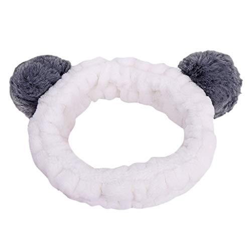 Panda Ohr Make Up Stirnband Damen Gesicht Waschen Spa Dusche Maske Haarband Bandana Für Frauen Make-Up Kosmetisches Turban Haar Tragen Gesicht Waschen Haarband Stirnbänder