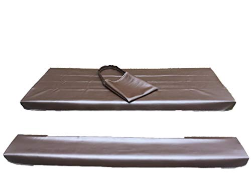 Table Gloves- Worlds Finest, Most Heavy Duty, Fitted Marine Grade Vinyl Picnic Table Cover Sets- Hand Made in The U.S.A. - Great for Camping or Full Time RV Living-(6 Foot Set- Root Beer)