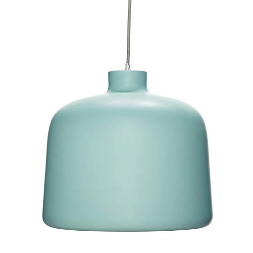 Hübsch Lampe, Aluminium, Grün/Weiß ø35xh29cm, E27/40W