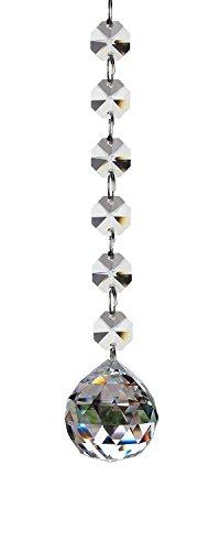 Fushing 2 Stück 170mm Kristall Glas Ball Kronleuchter Prismen Anhänger Teile Perlen Stränge