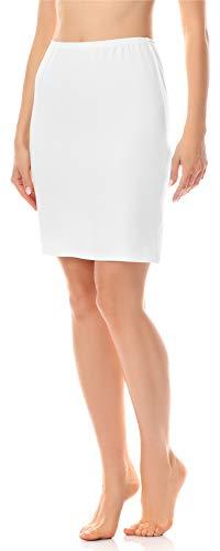 Merry Style Damen Unterrock Petticoat für Röcke MS10-204 (Weiß, L)