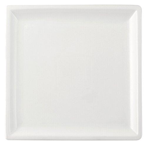 HOTELWARE Assiette Cadre, 25,5 cm, Porcelaine, Blanc