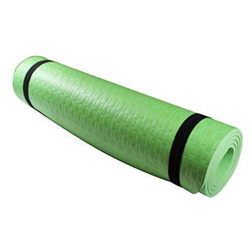 Azorex Esterilla Yoga Espeso Antideslizante Alfombrilla de Yoga Espesor 8/10 mm Esterilla Pilates Esterilla Deporte (Verde, Espesor 8mm Ancho 61cm)