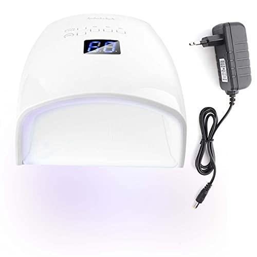 Lámpara de uñas LED UV con 30 luces y sensor automático y 5 temporizadores [01], secador de uñas de 48 W, herramientas para secador de uñas