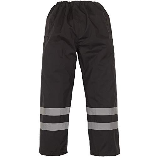 Yoko - Pantaloni Impermeabili Alta visibilità - Uomo (XL) (Nero)
