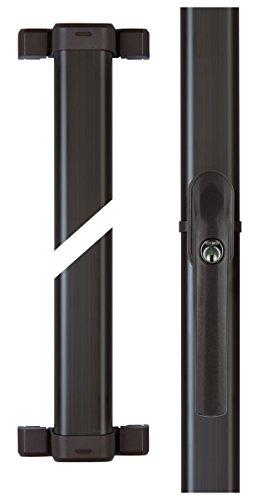 ABUS Fenster-Zusatzsicherung FOS550 AL0125 – Stangenschloss mit Druckzylinder, gleichschließend – Sicherheitslevel 10 – 31792 – Braun