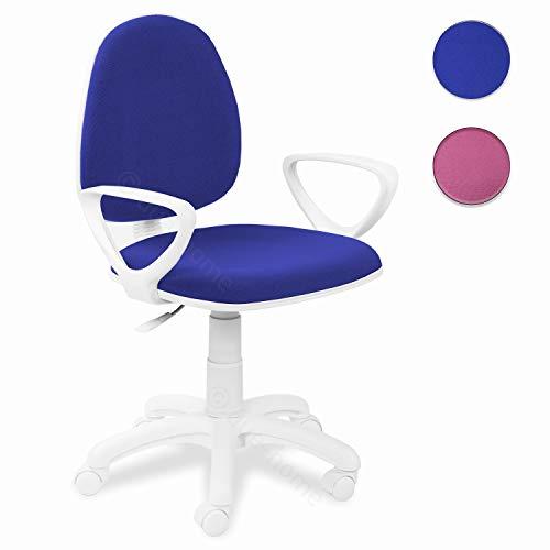 Adec - Dolphin, Silla de Escritorio giratoria, Silla Juvenil de Oficina, Color Azul, Medidas: 54 x 79-91 x 54 cm de Fondo