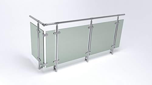Edelstahl Glas Balkon Geländer Seitenmontage
