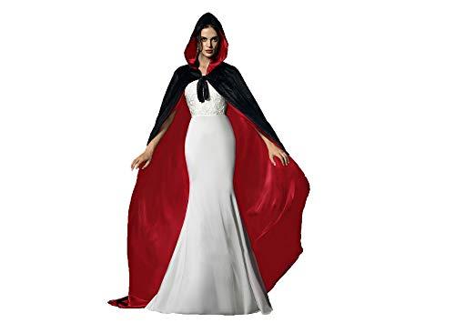 Special Bridal - Kostüm-Mäntel, Umhänge & Flügel für Erwachsene in Schwarz & Rot, Größe 5XL