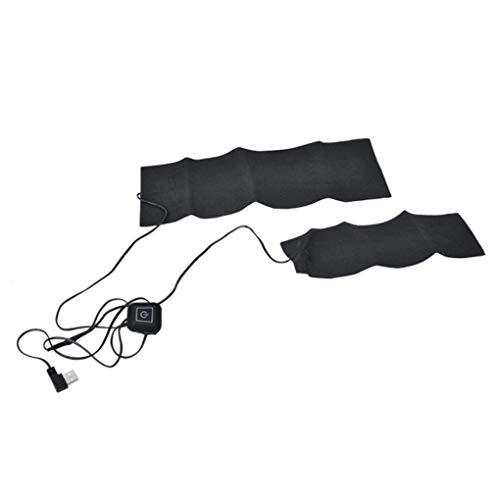 Topker 2 in 1 Elektro-USB-Heizkissen, USB-Hosen-Heizkissen Winter-Weste Beheizbare Warmer Pads Jacken Kleidung Faser-Heizung