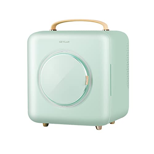 Mxsnow Refrigerador De Cosméticos Mini Calentador Refrigerado Snjiaheim Refrigerador De Maquillaje Portátil para El Cuidado De La Piel-Green