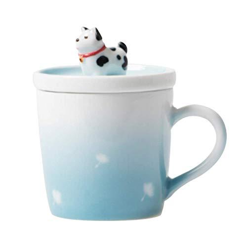 AYHa Hater Creative Coffee Milk Tea Tazza in ceramica - 3D Animal Morning Cup, Il miglior regalo adatto per matrimoni, compleanni, padri 'Giorno senza cucchiaio e piatto, 250 ml / 8,8 oz, cervo Sika,