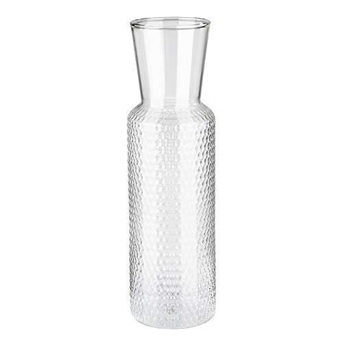 """APS Glaskaraffe """"Dots"""", Wasserkaraffe aus Glas, Transparenter Wasserkrug mit Korkdeckel, Glaskrug, 27 cm Höhe, 0,7 l Volumen"""
