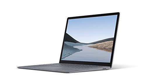 Microsoft Surface Laptop 3 Ordinateur Portable (Windows 10, Écran Tactile 13', Intel Core i5, 8Go RAM, 128Go SSD, Platine, Finition Alcantara, Clavier AZERTY Français)