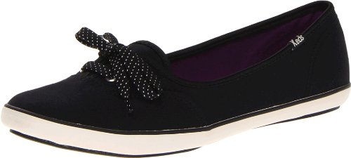 Keds Damen Teacup Seasonal Text Geschlossene Ballerinas, Schwarz (Black), 39 EU