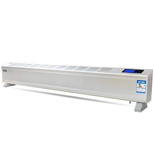 Vloerverwarming, voetlijstverwarming, slimline baseboard, laag niveau, wandmontage, vrijstaand, intelligente constante temperatuur, convectieverwarming, convectieverwarming 2000W wit