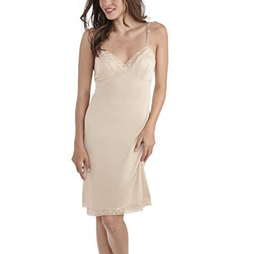 Vanity Fair Women's Full Slips for Under Dresses, Lace-26-Neutral, 2X-Large