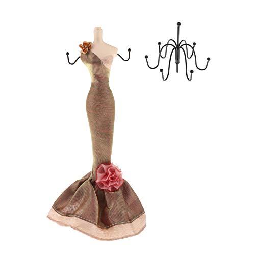 Hellery Novedad soporte de exhibición de joyería zapatos de tacón alto soporte de exhibición de anillo, gancho de pendientes de maniquí, collar de joyería de - Gran maniquí