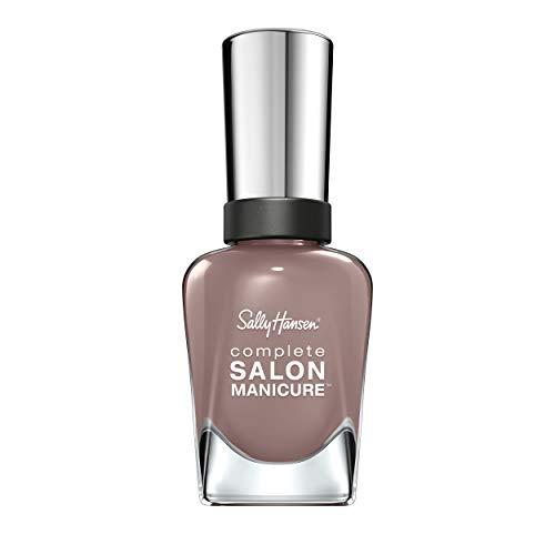 Sally Hansen Complete Salon Manicure Nagellack, mit Keratinkomplex Commander in Chic, Taupe, glänzender Pflegelack ohne UV-Licht, langanhaltend Nr. 370 1er Pack (1 x 14,7 ml)