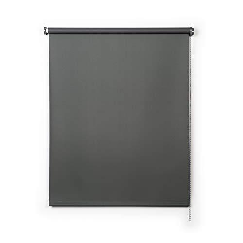 Stores Deco Estor Opaco, Estor Enrollable Blackout para Ventanas y Puertas (Gris, 100 cm x 250 cm)