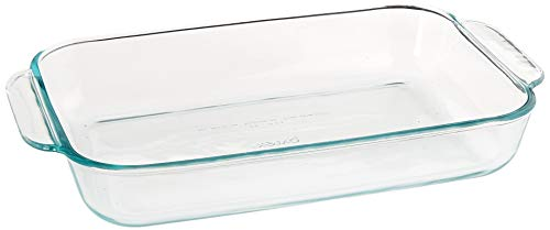 Pyrex SYNCHKG055786, Clear Basics 2 Quart Glass Oblong Baking Dish, 11.1 in. x 7.1 in. x 1.7