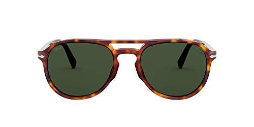 Persol Unisex 0PO3235S Sonnenbrille, Havana/Green, 55