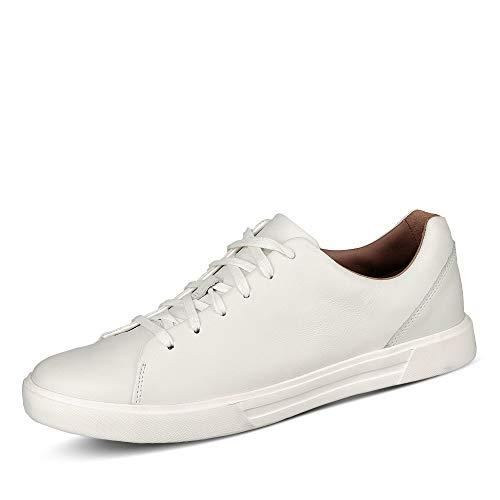 Clarks Un Costa Lace Herren Low-Top, Weißes Leder - Größe: 42.5 EU